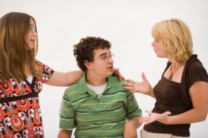 Parents and teens talking successfully about difficult topic